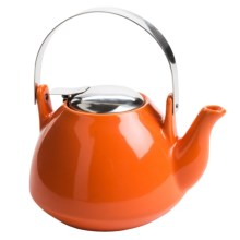 Creative Home Ceramic Tea Pot with Infuser - 36 fl.oz. in Orange - Closeouts