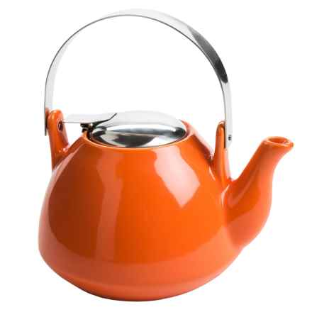 Creative Home Ceramic Teapot with Infuser - 36 fl.oz. in Orange - Closeouts