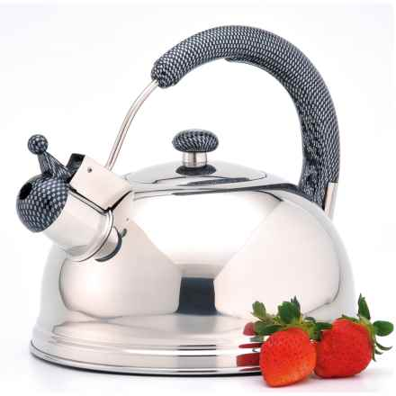 Creative Home Cobra Whistling Tea Kettle - 2.7 qt., Stainless Steel in Stainless Steel - Closeouts
