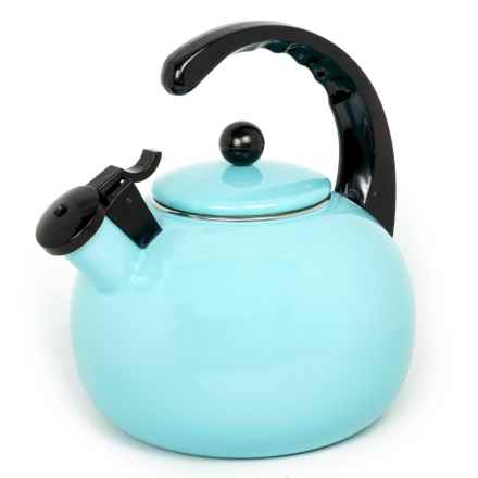 Creative Home Horizon Steel Whistling Tea Kettle - 2.5 qt. in Light Blue - Closeouts