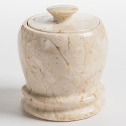 Creative Home Marble Accessory Jar with Lid in Champagne