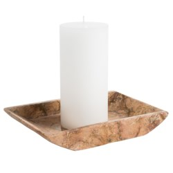 Creative Home Marble Boat Holder - Large in Champagne Glossy