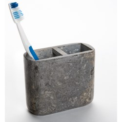 Creative Home Marble Toothbrush Holder in Charcoal