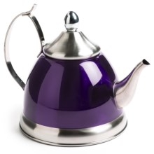 Creative Home Nobili Tea Kettle with Infuser - 1 qt., Stainless Steel in Purple - Closeouts