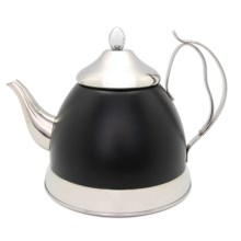 Creative Home Nobili-Tea Tea Kettle with Infuser Basket - 2 qt. in Black - Closeouts