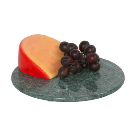 """Creative Home Round Marble Platter / Trivet - 8"""" in Green - Closeouts"""