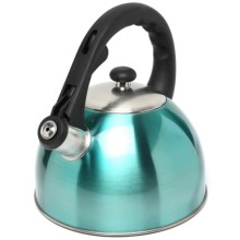 Creative Home Satin Splendor Tea Kettle - Stainless Steel in Aqua - Closeouts