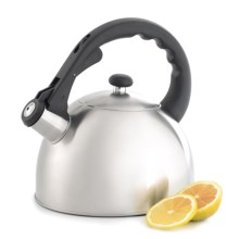Creative Home Satin Splendor Tea Kettle - Stainless Steel in Stainless Steel - Closeouts