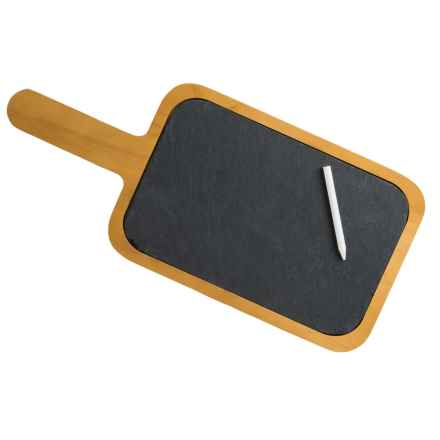 Creative Home Slate and Pine Wood Paddle Cheese Board in Slate/Pine - Closeouts