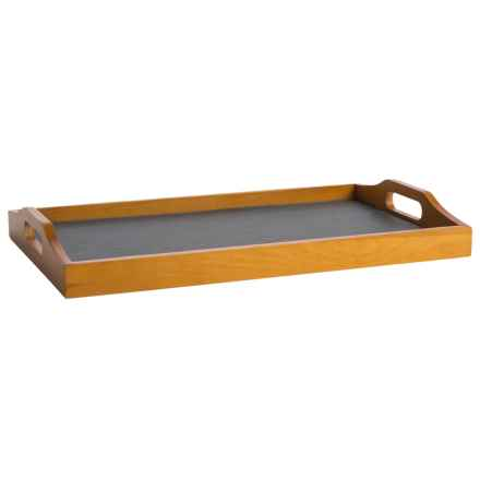 Creative Home Slate and Pine Wood Tray in Slate/Pine - Closeouts