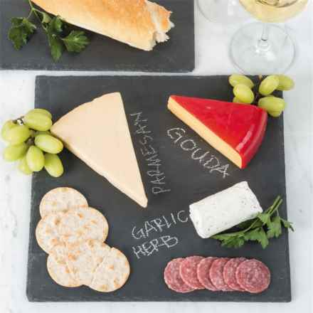 "Creative Home Slate Cheese Board - 12x12"" in Slate - Closeouts"