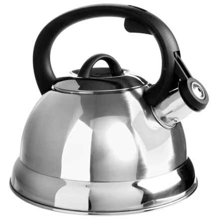 Creative Home Tribute Tea Kettle - 2.4 qt., Stainless Steel in Stainless Steel - Closeouts