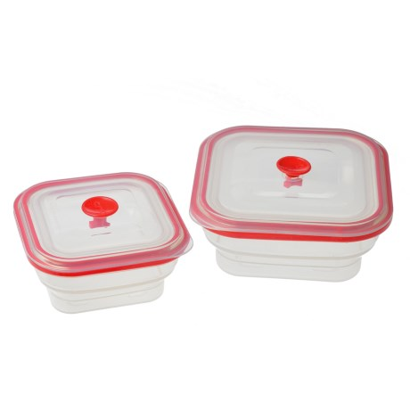 Creo Collapsible Food Storage Containers - Set of 2 in Red
