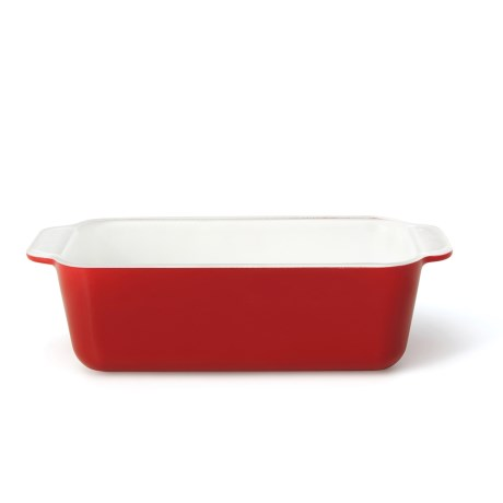 """Creo SmartGlass Loaf Pan - 8-1/4x4-1/2"""" in Red"""