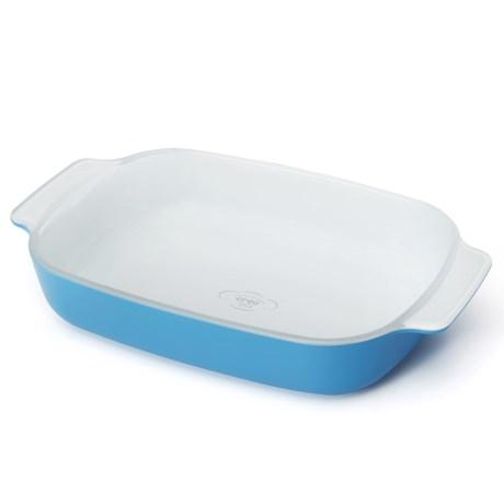 "Creo SmartGlass Mini Baking Dish - 7x11-1/2"" in Mediterranean Blue"
