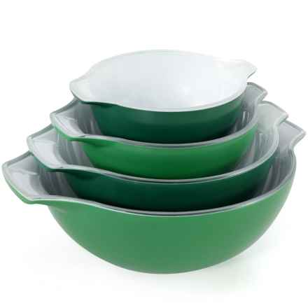 Creo SmartGlass Nesting Bowls - Set of 4 in Green - Closeouts