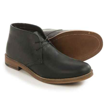 Crevo Dorville Chukka Boots - Leather (For Men) in Black - Closeouts