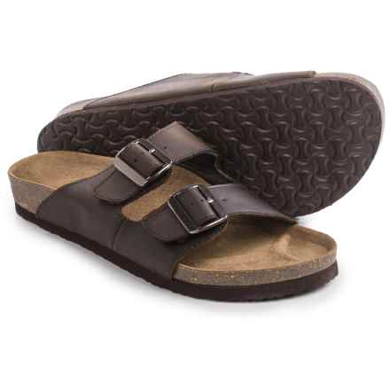 Crevo Double Buckle Sandals - Leather (For Men) in Brown - Closeouts