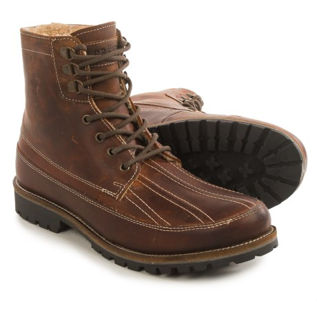 Crevo Fairby Leather Boots (For Men) in Chestnut