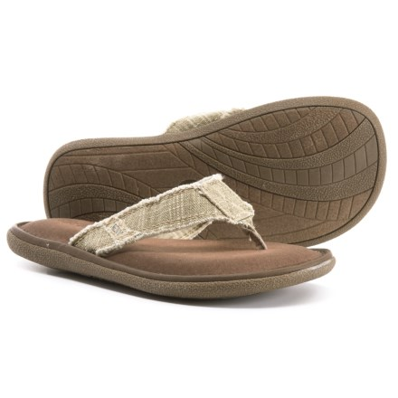 fd74ce5f369d87 Crevo Monterey II Flip-Flops (For Men) in Beige - Closeouts