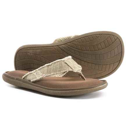 Crevo Monterey II Flip-Flops (For Men) in Beige - Closeouts
