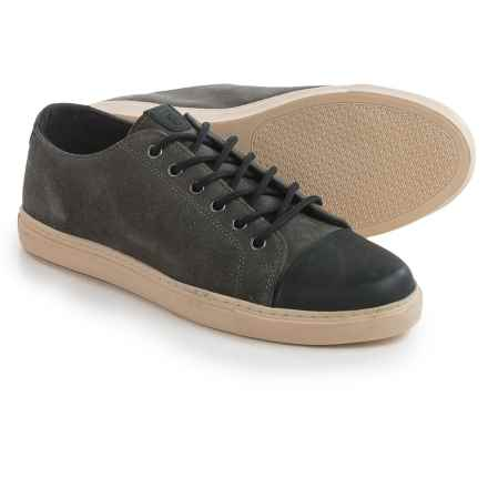 Crevo Quinton Sneakers - Leather, Toe Cap (For Men) in Grey/Black - Closeouts