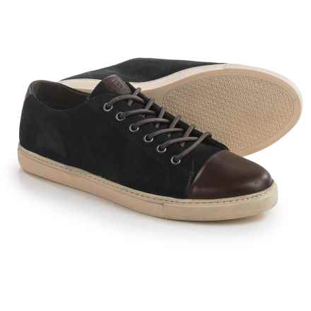 Crevo Quinton Sneakers - Leather, Toe Cap (For Men) in Navy/Brown - Closeouts