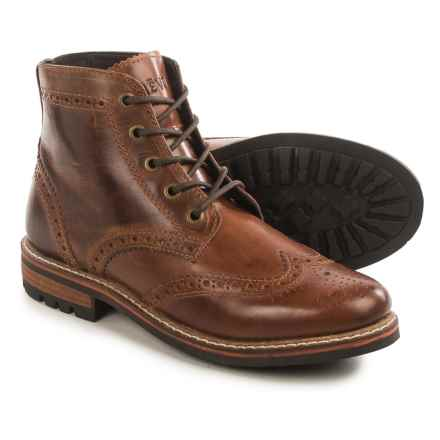 Crevo Speakeasy Wingtip Boots - Leather (For Men) in Chestnut - Closeouts