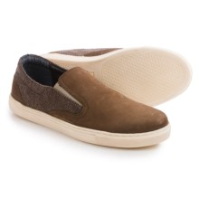 Crevo Walden Shoes - Leather, Slip-Ons  (For Men) in Brown - Closeouts