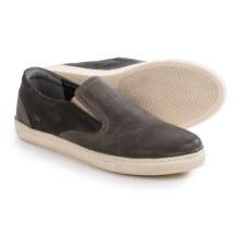 Crevo Walden Slip-On Shoes - Leather (For Men) in Grey - Closeouts