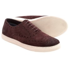 Crevo Winger Wingtip Sneakers (For Men) in Burgundy Suede - Closeouts