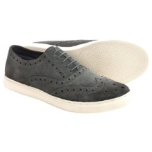 Crevo Winger Wingtip Sneakers (For Men) in Charcoal Suede - Closeouts