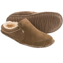 Crevo Ziggy Clog Slippers - Suede, Fleece Lined (For Men) in Light Brown - Closeouts