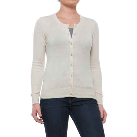 Crew Neck Cardigan Sweater (For Women) in Beige - 2nds