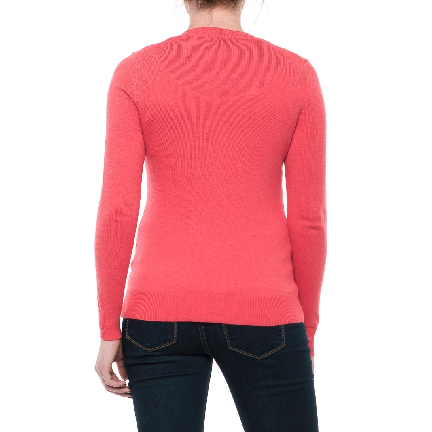 Crew Neck Cardigan Sweater (For Women) - Save 58%