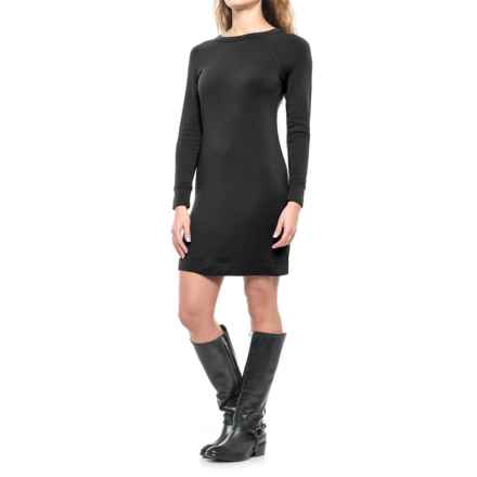 Crew Neck Dress - Long Sleeve (For Women) in Black - 2nds