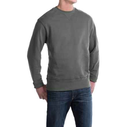 Crew Neck Sweatshirt - Cotton (For Men) in Charcoal - 2nds