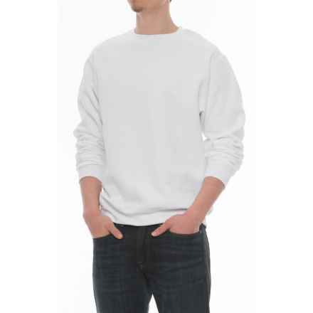 Crew Neck Sweatshirt (For Men) in White - Closeouts