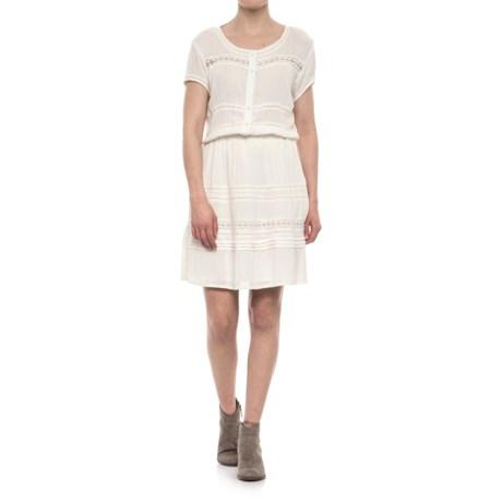 Crinkle Texture Dress - Short Sleeve (For Women)