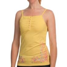 Cripple Creek Button-Accent Tank Top - Spaghetti Strap (For Women) in Lemon Drop - Closeouts