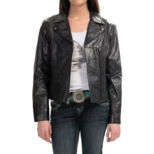Cripple Creek Hand-Laced Leather Jacket (For Women) in Coal - Closeouts