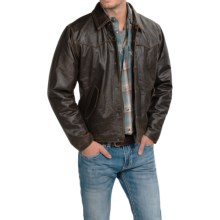 Cripple Creek Hand-Sanded Leather Jacket (For Men and Big Men) in Antique Chocolate - Closeouts