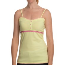 Cripple Creek Handstitched Tank Top - Stretch Cotton, Spaghetti Strap (For Women) in Buttercream - Closeouts