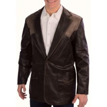 Cripple Creek Leather Two-Tone Blazer - Nappa Hand Lacing (For Men) in Antuique Chocolate - Closeouts