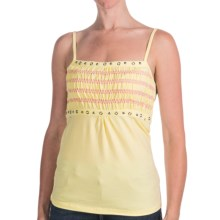 Cripple Creek Smocked Studded Tank Top - Spaghetti Straps (For Women) in Buttercream - Closeouts