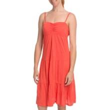 Cripple Creek Tiered Tank Dress - Slub Rayon, Spaghetti Strap (For Women) in Melon - Closeouts