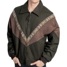 Cripple Creek Wool Melton Jacket - Insulated, V-Knit Insert (For Men) in Pine - Closeouts