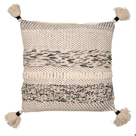 Image of Crissy Natural Textured Throw Pillow - 18x18? Feathers