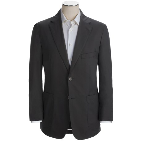Crittenden Cotton Poplin Sport Coat - Unconstructed (For Men) in Black