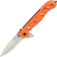 CRKT M-16 Folding Pocket Knife with Seat Belt Cutter - Spear Point, Combo Edge, Frame Lock in See Photo - Closeouts